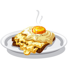 eggs with toast vector image vector image