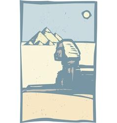Egyptian sphinx close vector