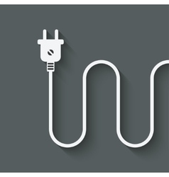 electric wire with plug vector image
