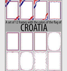 Flag v12 croatia vector