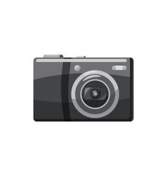 Front view camera icon cartoon style vector