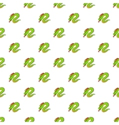 Green chinese dragon pattern cartoon style vector