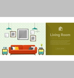 Interior design Modern living room background 4 vector image
