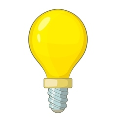 Lightbulb icon cartoon style vector