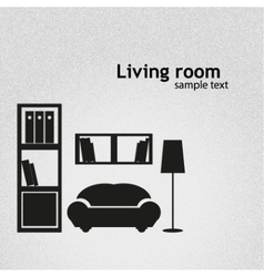 Living room background llustration vector