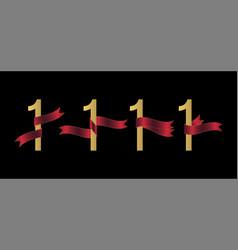 number 1 set vector image
