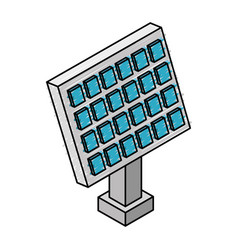 panel solar isometric icon vector image