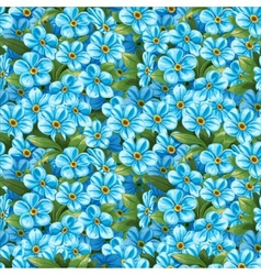 Pattern of forget-me-not vector image