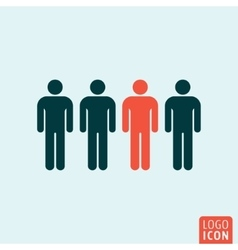 People icon isolated vector image vector image