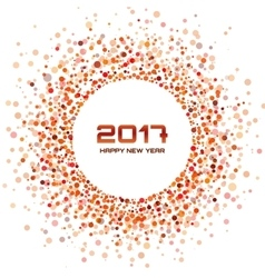 Red circle new year 2017 framewhite background vector