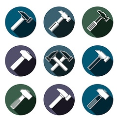 Repair instruments collection 3d tools mallets vector