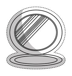 Small mirror icon image vector