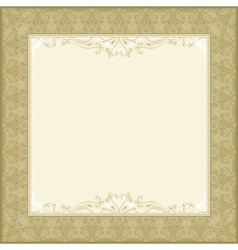 Square beige background with decorative ornate vector