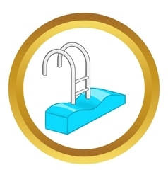 Stairs of the swimming pool icon vector