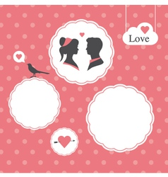 Valentines day card background template vector image vector image