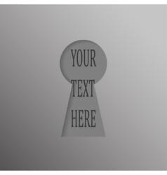 Paper banner design mockup keyhole open vector