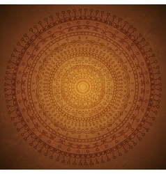 Vintage mandala ornament background vector image