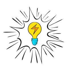 light bulb icon cartoon vector image