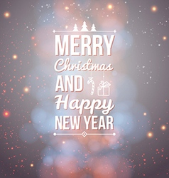 Merry christmas and happy new year card vector