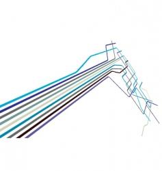 metro lines vector image