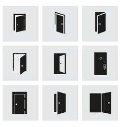 Door icon set vector