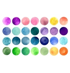 Watercolour circle textures vector