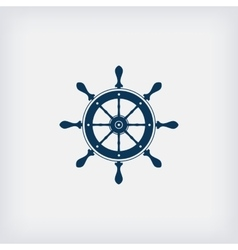 Marine steering wheel icon vector
