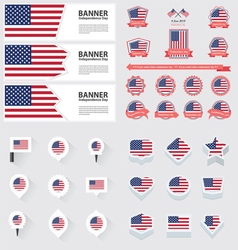 Set united states of american vector