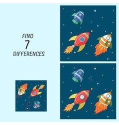Educational game for children find the differences vector