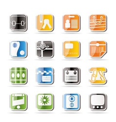 simple business and internet icons vector image