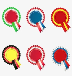 Ribbon award button vector