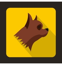 Pinscher dog icon flat style vector