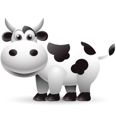 Cow cartoon isolated vector