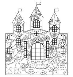 Castle coloring vector image
