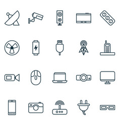 Accesory icons set collection of ventilator call vector