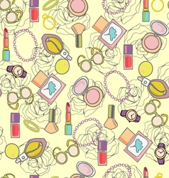 background of MakeUp beauty healthy cosmetic and p vector image vector image