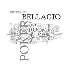 bellagio poker room reviewed text word cloud vector image vector image