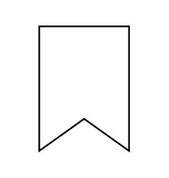 bookmark black color icon vector image vector image