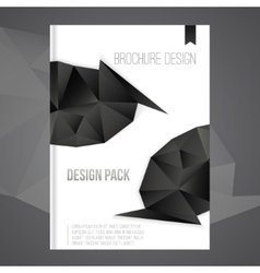 brochure cover design template with dark vector image