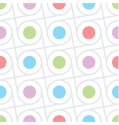 Circles and dots seamless texture vector