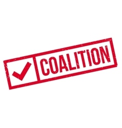 Coalition rubber stamp vector