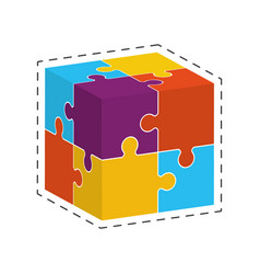 cube puzzle solution image vector image