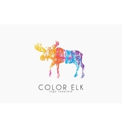 Elk logo color elk design creative logo vector
