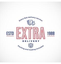 Fast delivery service sign emblem or logo vector