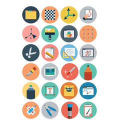 Flat design icons 5 vector
