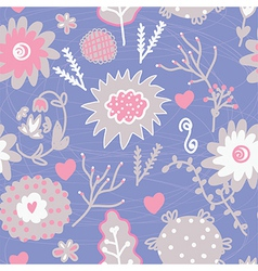 Floral seamless tender pattern vector image