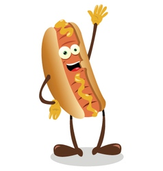 funny hot dog vector image vector image