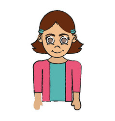Girl happy child icon image vector
