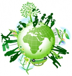 global eco vector image vector image