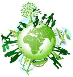 global eco vector image